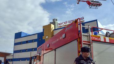 Un incendie s'est déclaré mercredi dans un centre commercial de Moscou, en Russie.
