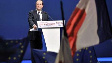 François Hollande ce week-end à son meeting de Dijon
