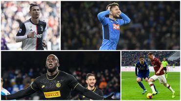 Cristiano Ronaldo, Dries Mertens, Romelu Lukaku et Alexs Saelemaekers