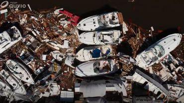 Vue aérienne des dégâts en Floride après le passage de l'ouragan Michael.