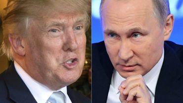 Un combo de Donald Trump et Vladimir Poutine
