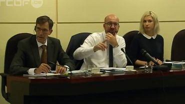 Charles Michel devant le Comité d'avis fédéral sur les questions européennes de la Chambre, lundi 13 juillet.