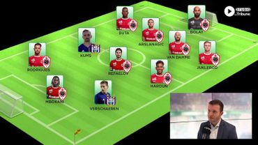 "Le onze type ""Antwerp-Anderlecht"" de Thomas Chatelle"