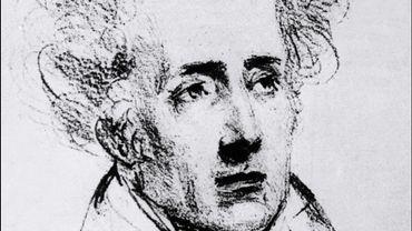 Reproduction d'un portrait non daté dessiné par Horace Vernet de l'écrivain et homme politique français, François-René de Chateaubriand