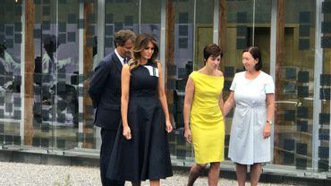 Mélania Trump, Amélie Derbaudrenghien et Ingrid Schulerud.
