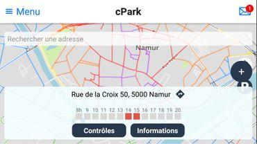 L'application CPark désormais implantée à Namur
