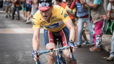 L'effort se lit sur le visage de Ben Foster dans le biopic de Lance Armstrong