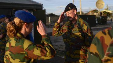 Le général Jean-Paul Deconinck à Saragosse, en Espagne, le 29 octobre 2015.