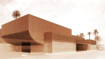 Projet du futur musée Yves Saint Laurent à Marrakech
