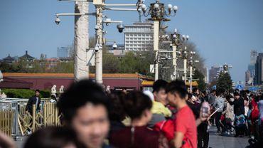 Une rue de Pékin près de la place Tienanmen.