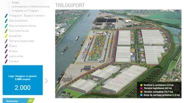 capture d'écran du site du port autonome de Liège