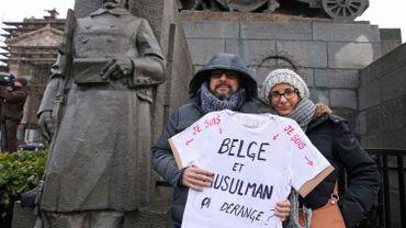 Lors d'une manifestation contre l'islamophobie en 2015 à Bruxelles