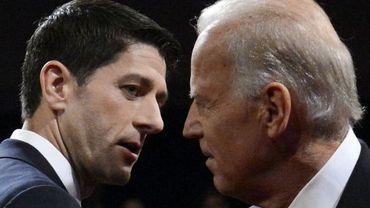 Paul Ryan (G) et Joe Biden (D)