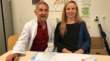 Le Dr Pascal Rémy et la diététicienne-nutritionniste Séverine Castiau