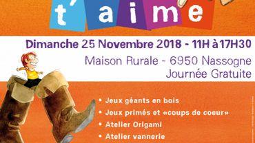 """Les rencontres """"Jeux t'aime"""" c'est aussi à Nassogne ce dimanche 25 novembre..."""