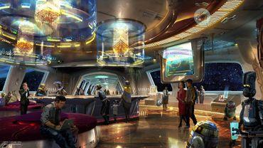 Illustration d'artiste du futur hôtel Star Wars du parc Walt Disney World.