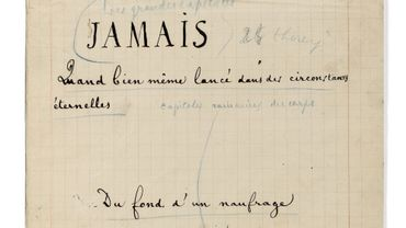 """""""Un Coup de dés..."""" a été acheté par le collectionneur français Marcel Brient"""