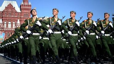 Des soldats russes lors d'un défilé à Moscou, en mai 2014