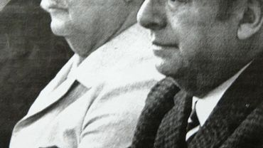 Pablo Neruda en compagnie du président chilien Salvador Allende