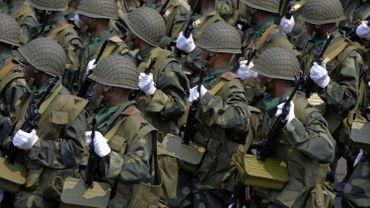 Parade de l'armée congolaise.