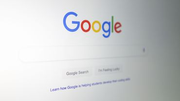 La page d'accueil du moteur de recherche de Google