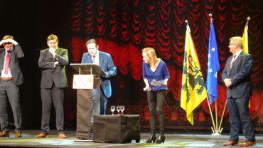 Une des étapes de l'immersion d'Aubry Touriel: lors de la réunion du Tour pour la Flandre en décembre 2014
