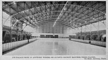 La patinoire d'Anvers, qui a accueilli le hockey sur glace aux Jeux d'Anvers