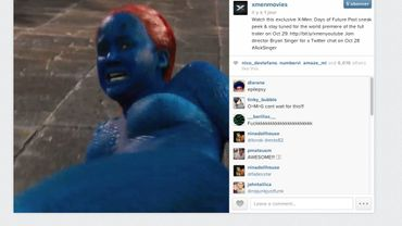 "Mystique (Jennifer Lawrence) en mauvaise posture dans le teaser de ""X-Men : Days of Future Past"")"