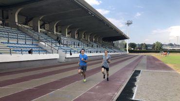 Eliott Crestan, à droite, s'entraîne à Jambes en compagnie d'un ami pour les championnats d'Europe à Berlin.