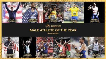 Onze nommés au titre d'athlète mondial de l'année