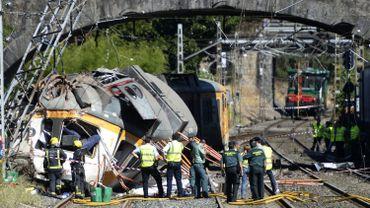 Le train  s'est encastré dans un poteau électrique à O Porriño