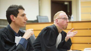Les avocats de Jérémy Pierson, Dimitri De Coster et Dimitri Soblet.