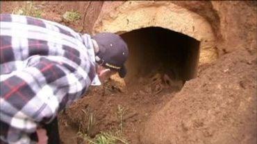 Saint-Léger : un sarcophage découvert lors de travaux de terrassement
