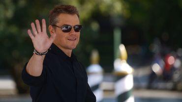 Matt Damon arrive à la Mostra