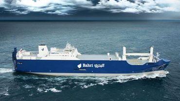 Un des 6 navire de la compagnie saoudienne Bahri