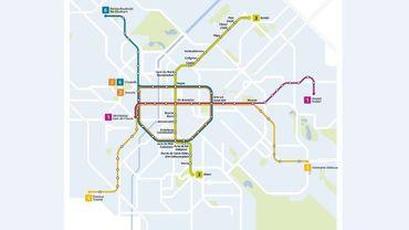 Le tracé du futur métro Nord, qui ne verra le jour qu'en 2028