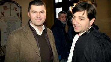 Didier Defourny et son avocat Me Putzeys.
