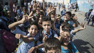 Des élèves palestiniens, à Gaza, le 12 octobre 2016