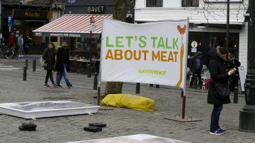 Des activistes de Greenpeace à Bruxelles en 2018