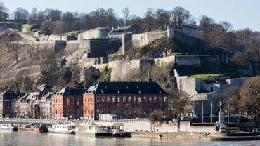 La citadelle de Namur, haut lieu du tourisme en Wallonie.