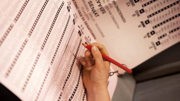 Un bulletin de vote papier