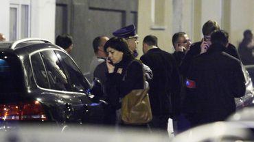 Arrivée de Joëlle Milquet à la mosquée.