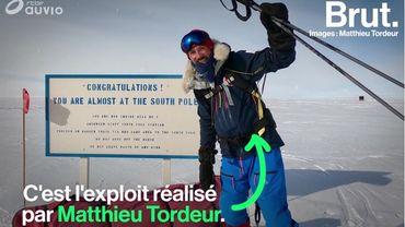 1.150 km en solitaire, sans assistance et sans ravitaillement pour rejoindre le pôle Sud… L'exploit de Matthieu Tordeur