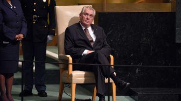 Le président tchèque Milos Zeman, âgé de 71 ans, est connu pour ses déclarations controversées.