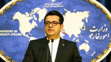 Le porte-parole du ministère iranien des Affaires étrangères, Abbas Moussavi, lors d'une conférence de presse à Téhéran le 28 mai 2019