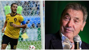 Eden Hazard et Eddy Merckx bientôt réunis sur la pelouse du Stade Roi Baudouin pour un échange symbolique de maillots jaunes