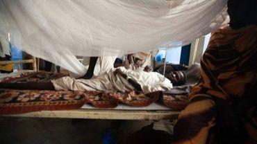 Une photo fournie par l'UNAMID montre une victime du paludisme, le 13 mai 2013 dans un hôpital du Darfour