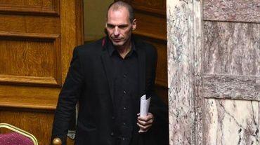 Le ministre grec des Finances Yianis Varoufakis au Parlement, à Athènes le 18 février 2015