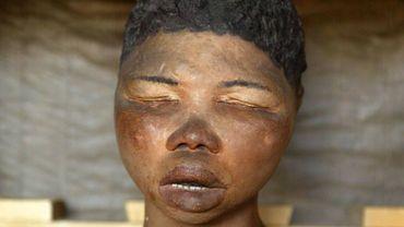 Moulage du visage de Sarah Baartman, surnommée la Vénus Hottentote, du musée de l'Homme à Paris