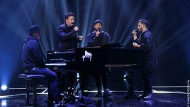 The Voice Belgique : Slimane chante 'Nous Deux' avec Guillaume et Emanuel